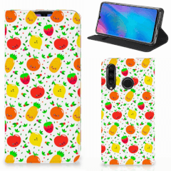 Huawei P30 Lite New Edition Flip Style Cover Fruits