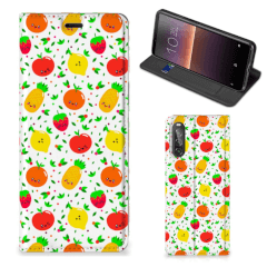 Sony Xperia 10 II Flip Style Cover Fruits