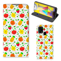 Samsung Galaxy M31 Flip Style Cover Fruits