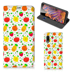 Samsung Xcover Pro Flip Style Cover Fruits