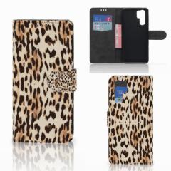 Huawei P30 Pro Telefoonhoesje met Pasjes Leopard
