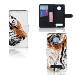 Hoesje Motorola Moto Z Play Watercolor Tiger