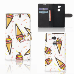 Sony Xperia XA2 Ultra Book Cover Icecream