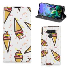 LG Q60 Flip Style Cover Icecream