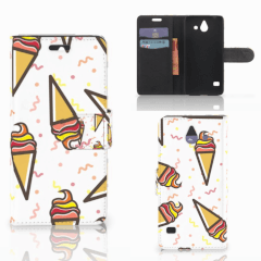 Huawei Ascend Y550 Book Cover Icecream