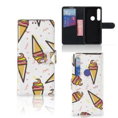 Motorola Moto G8 Plus Book Cover Icecream