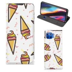 Motorola Moto G 5G Plus Flip Style Cover Icecream