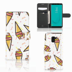 Samsung Galaxy J6 2018 Book Cover Icecream