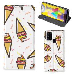 Samsung Galaxy M31 Flip Style Cover Icecream