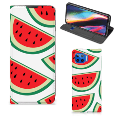 Motorola Moto G 5G Plus Flip Style Cover Watermelons
