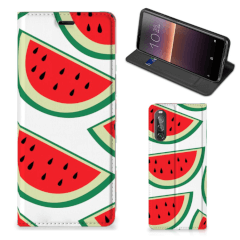 Sony Xperia 10 II Flip Style Cover Watermelons