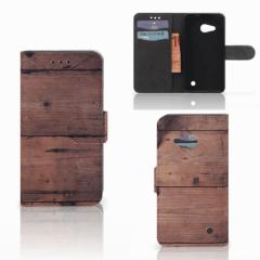 Microsoft Lumia 550 Book Style Case Old Wood