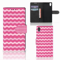 Sony Xperia XA1 Telefoon Hoesje Waves Pink