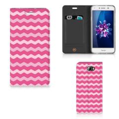 Huawei Y5 2 | Y6 Compact Hoesje met Magneet Waves Pink