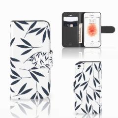 Apple iPhone 5 | 5s | SE Hoesje Leaves Blue