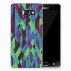 Samsung Galaxy A3 2016 TPU Hoesje Abstract Green Blue