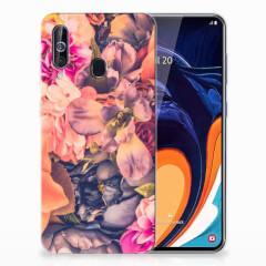 Samsung Galaxy A60 TPU Case Bosje Bloemen
