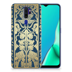 OPPO A9 2020 TPU Case Golden Flowers