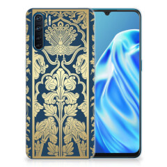 OPPP A91 TPU Case Golden Flowers
