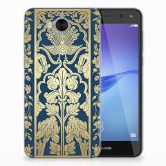 Huawei Y5 2017 | Y6 2017 TPU Case Golden Flowers