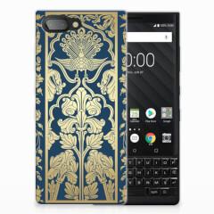 BlackBerry Key2 TPU Case Golden Flowers