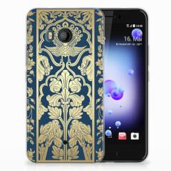 HTC U11 TPU Case Golden Flowers