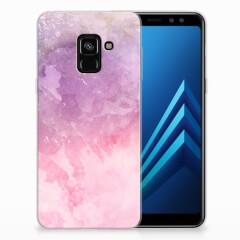 Hoesje maken Samsung Galaxy A8 (2018) Pink Purple Paint