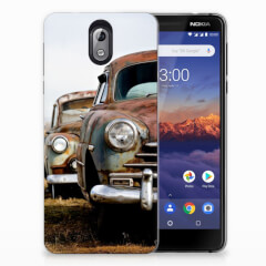 Nokia 3.1 (2018) Siliconen Hoesje met foto Vintage Auto