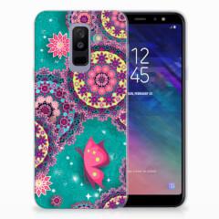 Samsung Galaxy A6 Plus (2018) Hoesje maken Cirkels en Vlinders
