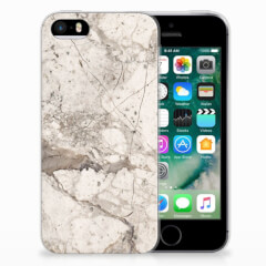 Apple iPhone SE | 5S TPU Siliconen Hoesje Marmer Beige