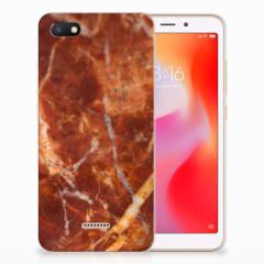 Xiaomi Redmi 6A TPU Siliconen Hoesje Marmer Bruin