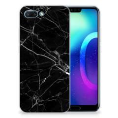 Huawei Honor 10 TPU Siliconen Hoesje Marmer Zwart - Origineel Cadeau Vader