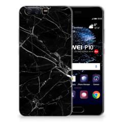Huawei P10 TPU Siliconen Hoesje Marmer Zwart - Origineel Cadeau Vader