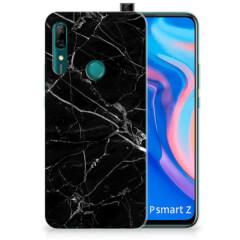 Huawei P Smart Z TPU Siliconen Hoesje Marmer Zwart - Origineel Cadeau Vader