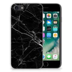 iPhone SE (2020) | 7/8 TPU Siliconen Hoesje Marmer Zwart - Origineel Cadeau Vader