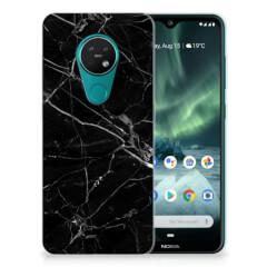 Nokia 7.2 | 6.2 TPU Siliconen Hoesje Marmer Zwart - Origineel Cadeau Vader
