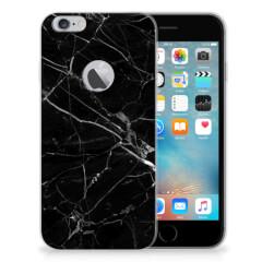 Apple iPhone 6 Plus | 6s Plus TPU Siliconen Hoesje Marmer Zwart - Origineel Cadeau Vader
