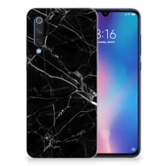 Xiaomi Mi 9 TPU Siliconen Hoesje Marmer Zwart - Origineel Cadeau Vader