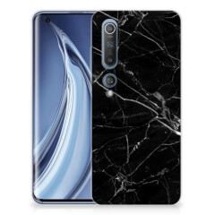 Xiaomi Mi 10 Pro TPU Siliconen Hoesje Marmer Zwart - Origineel Cadeau Vader