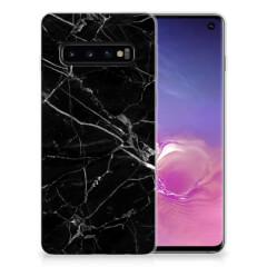 Samsung Galaxy S10 TPU Siliconen Hoesje Marmer Zwart - Origineel Cadeau Vader
