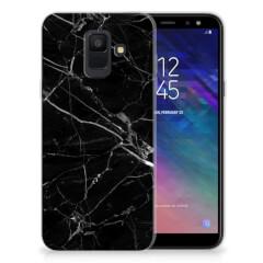 Samsung Galaxy A6 (2018) TPU Siliconen Hoesje Marmer Zwart - Origineel Cadeau Vader