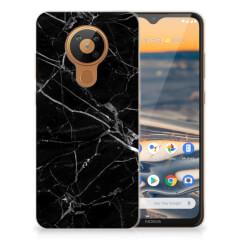 Nokia 5.3 TPU Siliconen Hoesje Marmer Zwart - Origineel Cadeau Vader