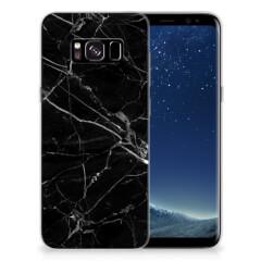 Samsung Galaxy S8 TPU Siliconen Hoesje Marmer Zwart - Origineel Cadeau Vader