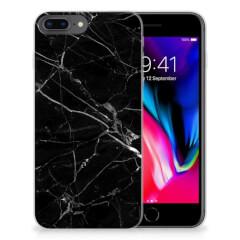 Apple iPhone 7 Plus | 8 Plus TPU Siliconen Hoesje Marmer Zwart - Origineel Cadeau Vader