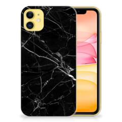 Apple iPhone 11 TPU Siliconen Hoesje Marmer Zwart - Origineel Cadeau Vader