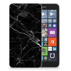 Microsoft Lumia 640 TPU Siliconen Hoesje Marmer Zwart - Origineel Cadeau Vader