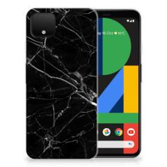 Google Pixel 4 XL TPU Siliconen Hoesje Marmer Zwart - Origineel Cadeau Vader