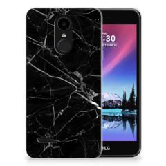 LG K4 (2017) TPU Siliconen Hoesje Marmer Zwart - Origineel Cadeau Vader