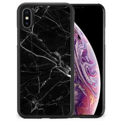 Apple iPhone Xs Max Gripcase Marmer Zwart - Origineel Cadeau Vader