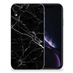 Apple iPhone Xr TPU Siliconen Hoesje Marmer Zwart - Origineel Cadeau Vader